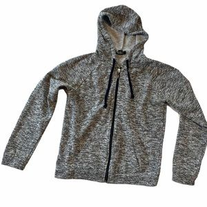 4/$25 salt and pepper zip up hoodie with pockets